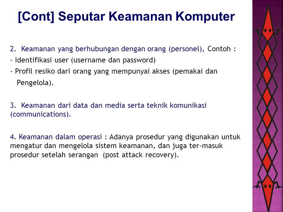 [Cont] Seputar Keamanan Komputer